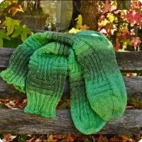 Grünes Sockengerippe