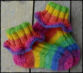 opal over the rainbow baby socks b